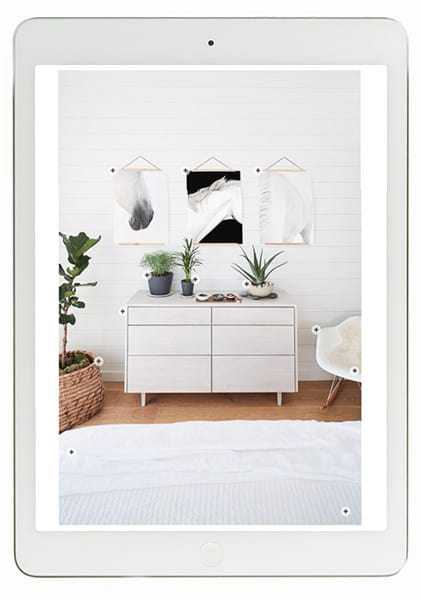 shoppable image for interior photo on ipad