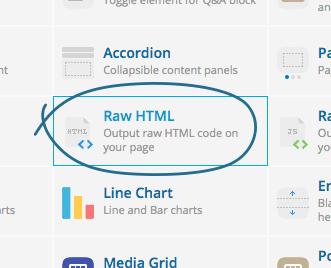 HTML select - visual composer